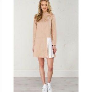 Adidas sport long sleeves long full zip dress